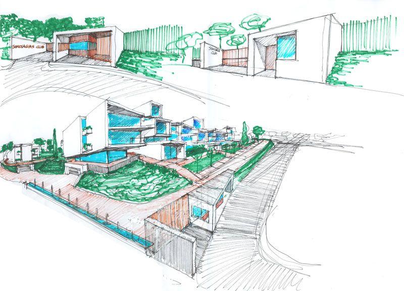 Primer premio Bloques para 75 viviendas en Somosaguas Club - Otto Medem Arquitectura
