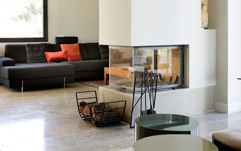 Arquitectura - Chimeneas transparente en vivienda unifamiliar de Molino de la Hoz