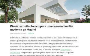 Diseño arquitectónico para una casa unifamiliar moderna en Madrid