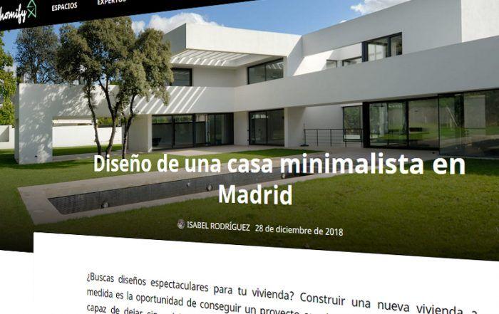 Homify. Diseño de una casa minimalista en Madrid