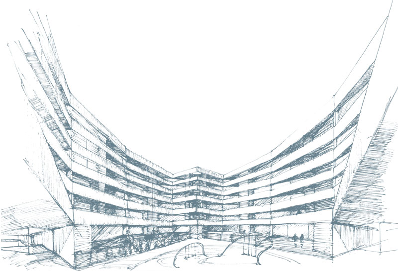 Bloque Móstoles Fase I. Singular scope of ordination AOS-11 General Plan of Móstoles award - Otto Medem Arquitectura
